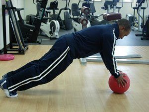 The Plank on a medicine ball