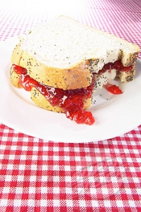 Jam Sandwich - High GI carbohydrates and calories.