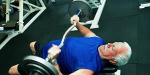 Mature geezer strength training