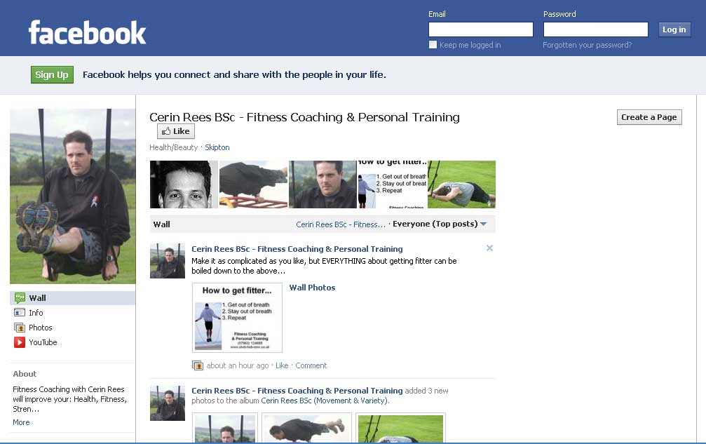 how to set up a new facebook page